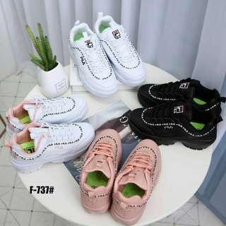 826c086d97 [FILA DISRUPTOR II SNEAKERS F-737] Sepatu Sport Wanita Impor Murah
