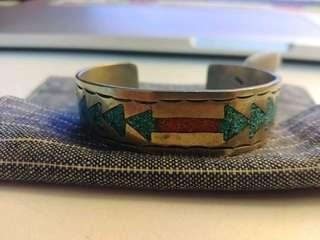 navajo 925 銀 手鐲 goro vintage 民族 visvim  印第安 綠松石