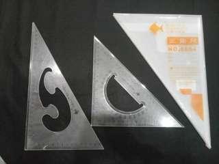 2pc Geometric Triangle rulers 30cm*28cm*2.4mm large size