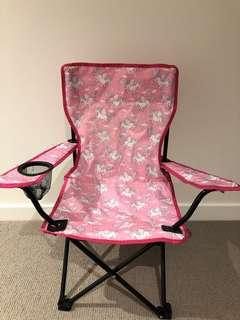 Unicorn Camping Kid Chair