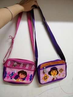 Cute dora small sling bags