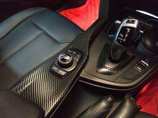 Bmw interior cf wrap