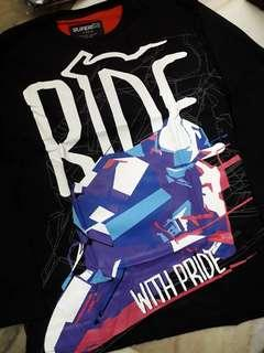"""RIDE WITH PRIDE"" PRINTED T-SHIRT (ClEARANCE STOCK)"