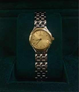 Original Vintage Omega Ladies Watch With Solid 18K Gold Bezel
