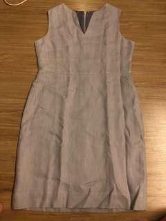 grey office dress