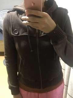 XXI Dark Brown Hoodie Jacket
