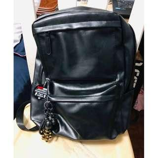 Men leather backpack no brand