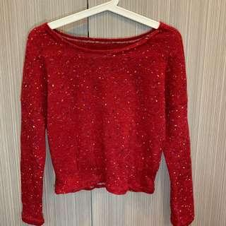 Red jumper/ sweater/ long sleeve