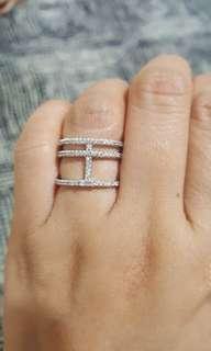 GOLD PLATED CIRCONIAN DIAMOND RING