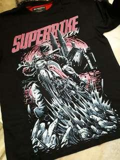 PRINTED T-SHIRT BY SUPERBIKE CREW [CLEARANCE STOCK]