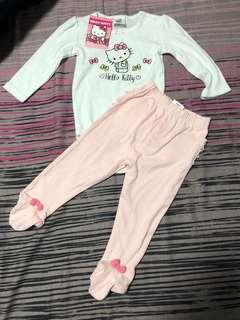 🚚 BNWT Hello Kitty bodysuit and footed pants