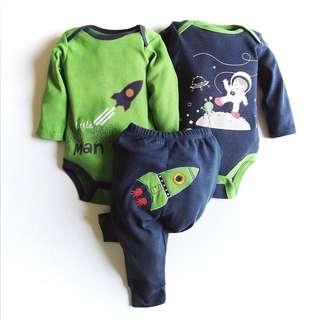 3pcs romper + pants set