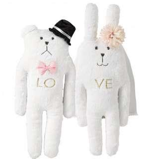 Craftholic Wedding Rabbit Bunny Doll Plush Toy