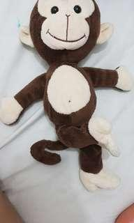 Monkey plush doll