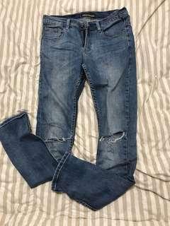 Ziggy denim 購入澳洲 當紅國外潮牌 窄管刀割褲