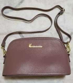Guei Lutucchi Leather bag - purple grey color