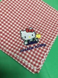 Hello kitty 絕版 刺繡 手巾仔