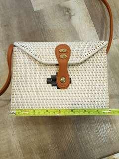 Rattan/Straw Sling Bag