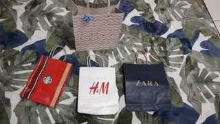 Branded paper bag / Gift bag - Zara, Starbucks, H&M