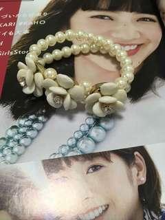 Pearl flower bracelet from Japan
