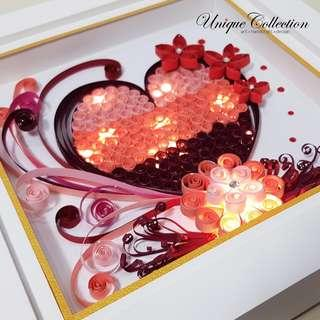 [CUSTOMIZED VALENTINE'S DAY GIFT] Handmade Paper Quilling Frame