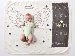 🆕 Milestone Baby Blanket (for monthly photo) - soft & warm