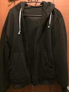 jaket polos hitam