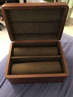 Fossil 8 piece leather watch box with strap holder