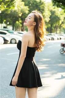 🚚 ✓ Instock Black Tube Dress