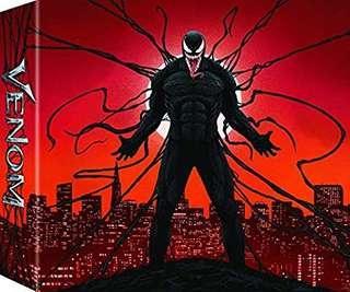 Venom Amazon Exclusive Bluray and DVD