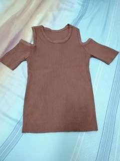 Used Brown top blouse