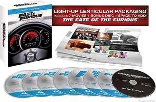 Fast & Furious 7 - Movie Collection Bluray Boxset with bonus disc   The Ultimate Ride Collection   8 discs
