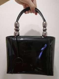 authentic christian dior patent leather bag