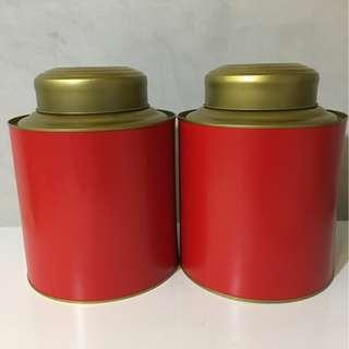 Containers for storing Chinese tea leaves