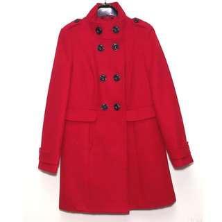 NEW M&S Marks & Spencer Women's Red Double Breasted Military Winter Jacket Coat Size 10 Medium 全新 英國 馬莎 女裝 紅色 孖襟 10號 中碼 冬天 大衣 外套 軍褸 褸