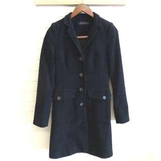 🚚 ZARA 都會修身絨布長版西裝外套 S