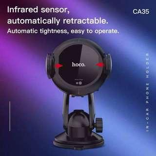 Hoco CA35 Plus Auto-Induction 10W Wireless Charging In-Car Phone Holder