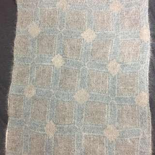 Initial angora scarf/ snood with buttons 兔毛圍巾