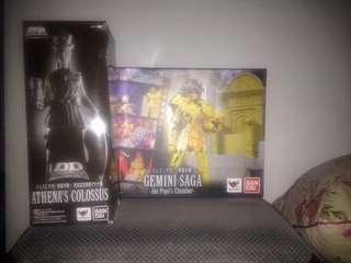 Original Bandai DDP Saint Seiya Gemini Saga + Colossus Athena