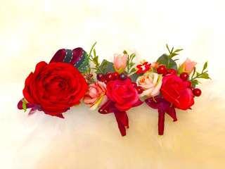 結婚物資 - 新郎及父母襟花