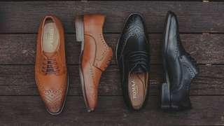 Tomaz Wingtip Brogues (Black)