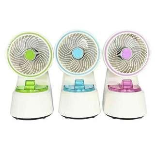 Water spray humidifier fan