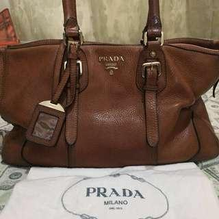 PRADA 2-WAY LEATHER BAG