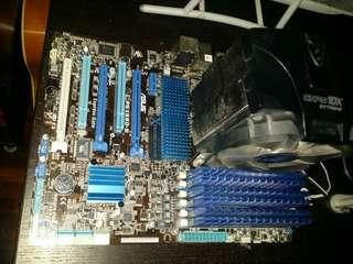 Asus P6X58D-E LGA 1366/socket B, Intel motherboard + Intel i7 + 12GB Kingston Hyper X DDR3 RAM