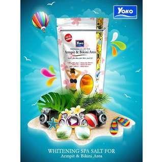 YOKO Whitening Spa Salt for Armpit and Bikini Area