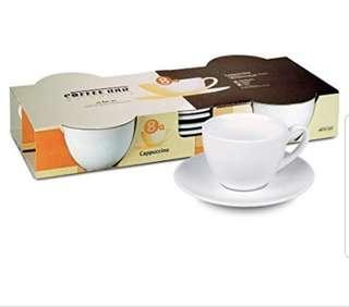 Konitz Cappucino Mugs & Saucer