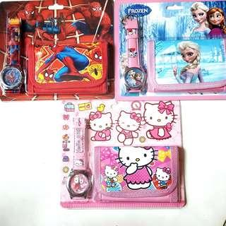 🚚 KIDS Wallet & Watch Cartoon Set