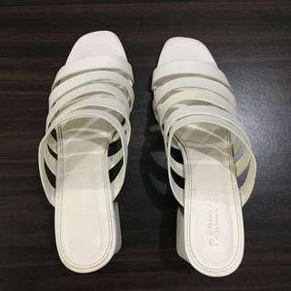 Parisian White Block Heels