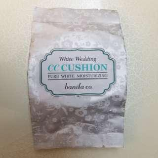 banila co. White Wedding CC cushion pure white moisturizing 補充裝