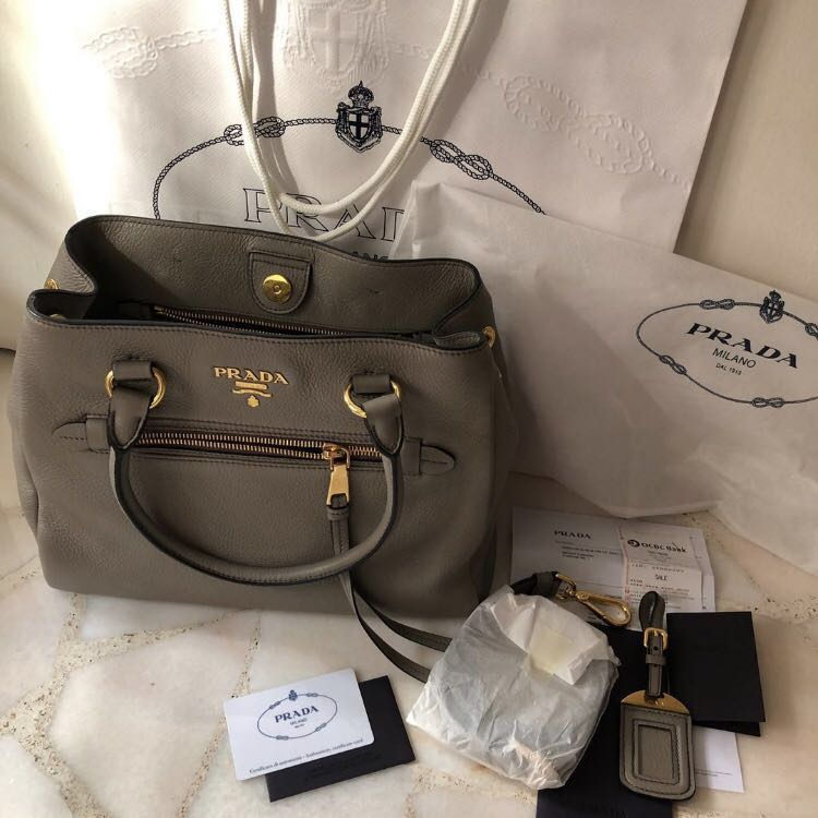 1b0e0f946e0c 🆕 Prada Bag (Vitello Phenix Argilla)